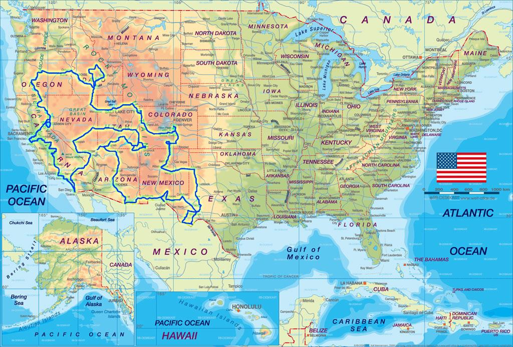USA statemap